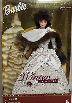 Winter Classic Brunette Barbie 2001, MIB NRFB - 52996