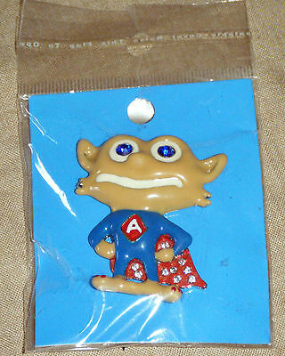 Novelty Enamel Troll / Goblin Superhero Badge