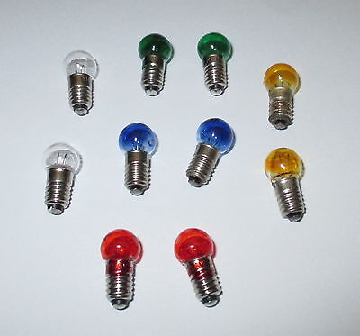 Spare bulbs Colored E5.5 - 19V - color of your choice 10 x NEW