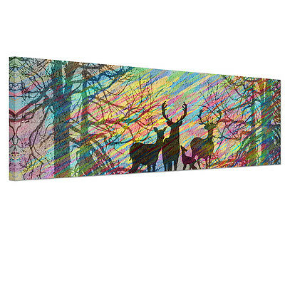 Unframed Canvas Prints Modern Home Decor Wall Art Picture-Deer Windy Forest