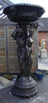 Very Large Bronze Water Feature / Fountain - Three Ladies - Height 235cm