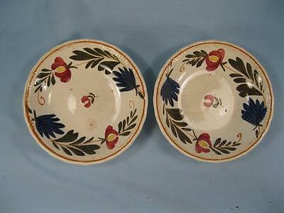 2 Red Yellow Flowers Dessert Sauce Bowls Societe Ceramique Maestricht (O) AS IS