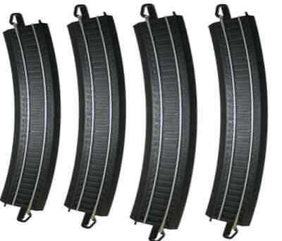 "Bachmann 44480 HO Scale E-Z Train Track Black 18"" Radius Curved 12pcs"