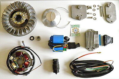Gp Elec' Ignition Kit.cowl Cover,cdi,regulator,loom & Extra's For Lambretta