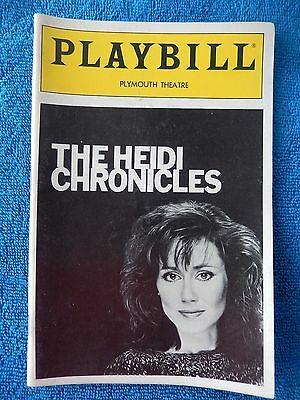 The Heidi Chronicles - Plymouth Theatre Playbill - July 1990 - Mary McDonnell