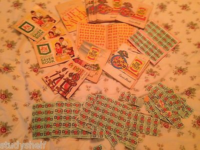 Lot of S&H Green Stamps & Top Value Stamps and Saver Books