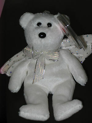 "Ty Jingle Beanie Baby ~ HERALD the (5"") Angel Bear ~ MINT with MINT TAGS"