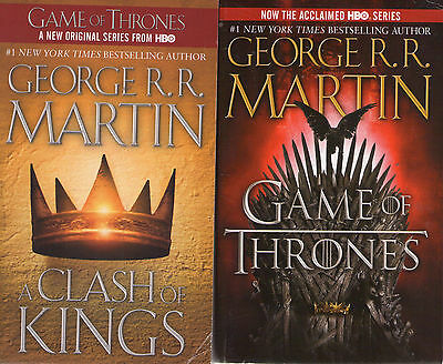 Complete Set Series - Lot of 5 Game of Thrones Books by George R.R. Martin (PB)