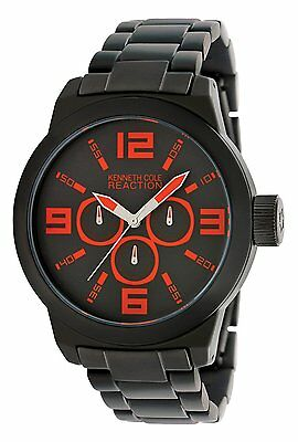 Brand New Kenneth Cole Reaction Men's RK3219 Street Collection Black Dial Watch
