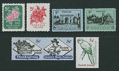 5c BOOKLET STAMPS - MUH LOT OF SEVEN (R75-RR)