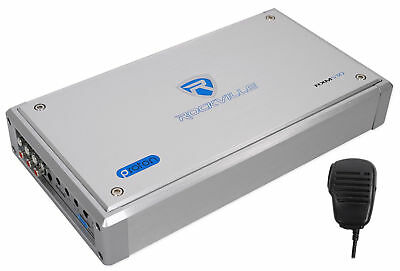 Rockville RXM-S30 Micro Marine/ATV Amplifier 2400w Max 4 Channel 4x150/CEA Rated