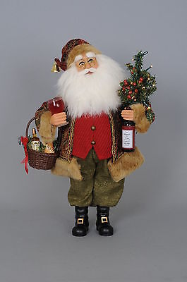 Karen Didion Originals Christmas Lighted Wine Santa Figurine