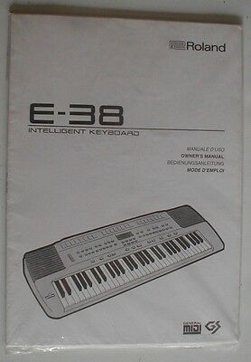 Roland E-38 Intelligent Keyboard Organ Owners Manual E38