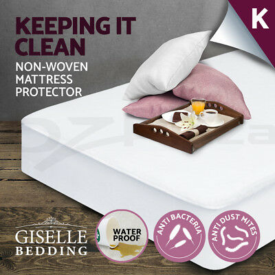 Fully Fitted Waterproof Mattress Protector Non Woven King Cover