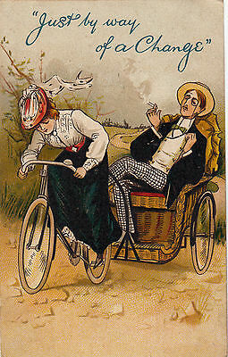 Cycling Humour Women's Rights  Just By Way Of A Change
