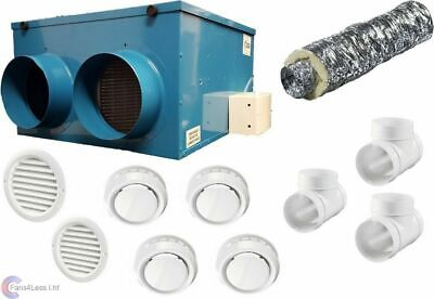 CFLO250 Heat Recovery Ventilation Condensation 1 to 12 Rooms Complete Kit