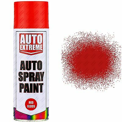 1 x 400ml Red Gloss Spray Paint Aerosol Can Auto Extreme Car Van Bike