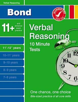 Bond 10 Minute Tests Verbal Reasoning 11-12+ years by Down, Frances Pamphlet The