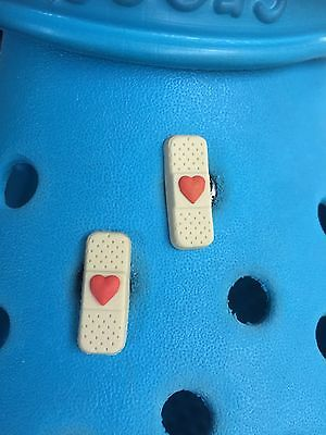 2 Small Plaster Shoe Charms For Crocs & Jibbitz Wristbands. Free UK P&P.