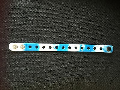 Blue & White Wristband For Jibbitz & Shoe Charms. Free UK P&P.