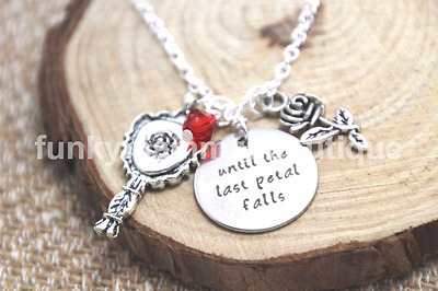 Until The Last Petal Falls Charms Pendant Necklace Belle Beauty And The Beast