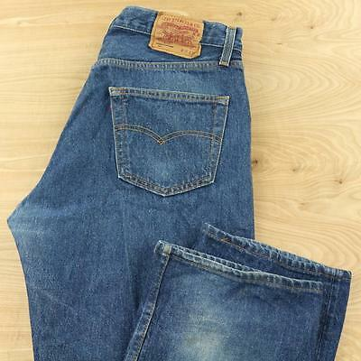 vtg LEVI's 501 usa made jeans 36 x 34 tagged light wash faded blue button fly