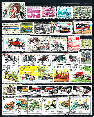 CARS, TRUCKS, and BUSES Topical Stamps Lot of  38