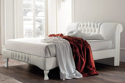 Luxury Modern Contemporary Designer White Bed Frame Double King Size
