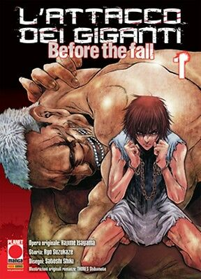 L'ATTACCO DEI GIGANTI - BEFORE THE FALL da 1 a 10 completa ed. planet manga