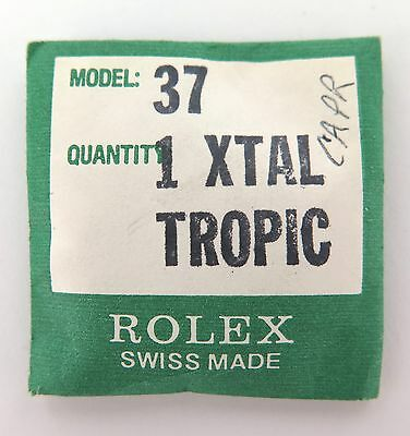 .vintage Rolex New Old Stock Tropic 37 Crystal. Discontinued / Unopened Pkt