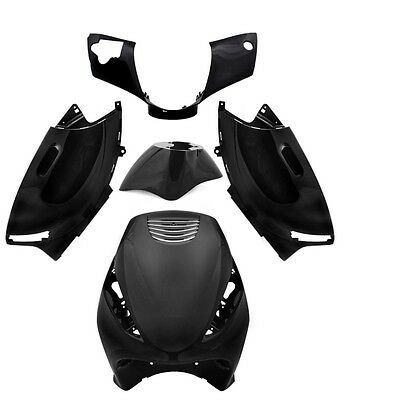Fairing set fairing Fairing parts in black Piaggio ZIP 50 AC 2T 4T