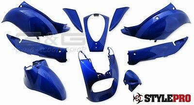 STYLEPRO FAIRING KIT IN BLUE 10 Teilig for Sym Mio 50 bis BJ.09