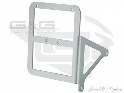 Stainless steel Side Licence Plate Holder Number plate holder for Piaggio Gilera