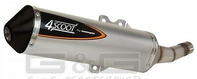 Exhaust Tecnigas 4Scoot for Piaggio Beverly Carnaby 125 - 200 with E-test mark