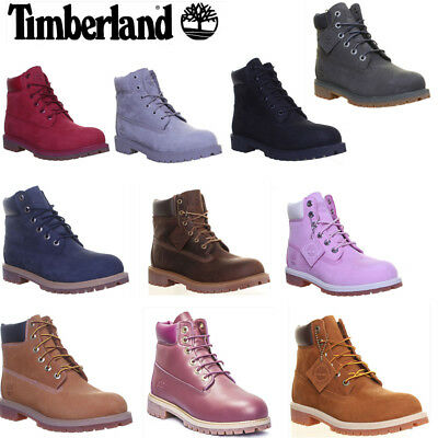 Timberland 6 inch Junior Womens Ankle Boots Uk Size 3 - 7