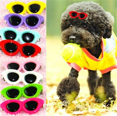 FD3719 Pet Dog Hair Bows Pet Hair Clips Doggie Boutique sunglasses groomings ☆