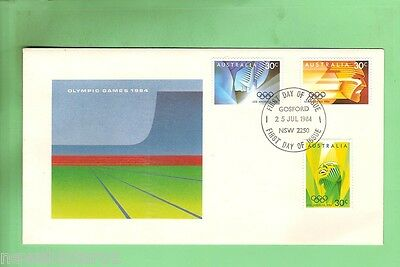 #d62. 1984 Olympic First Day Cover Signed By Designers