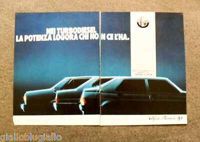 Pubblicita / Advertising - ALFA ROMEO ,TURBODIESEL ALL'ORIGINE (1986) #7281