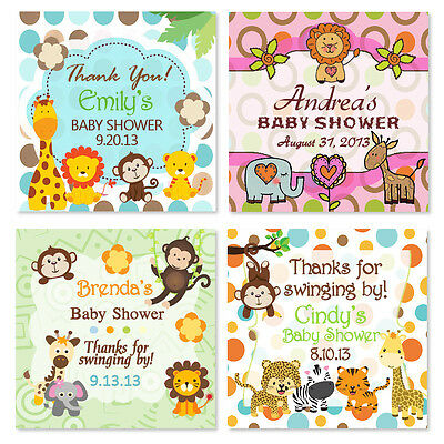JUNGLE MONKEY Birthday Baby Shower Hang Tags PRE-PUNCHED Thank You ...