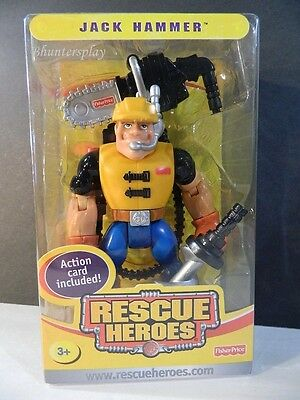 2004 RESCUE HEROES COLLECTIBLE JACK HAMMER ACTION CARD Special Edition NEW H4002
