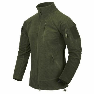 Helikon Tex Alpha Tactical Jacket Grid Fleece Olive Green