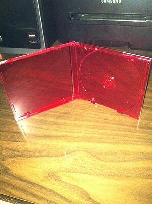 100 Bl110Pk Red Single Cd Case With  Red Tray 10.4Mm