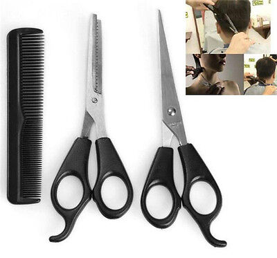 FD3793 Salon Barber Hairdressing Hair Cutting Thinning Shears Scissors Comb 3PC☆