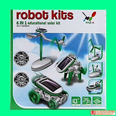 Solar DIY Educational toy Kit 6in1 KIds Toys Gift