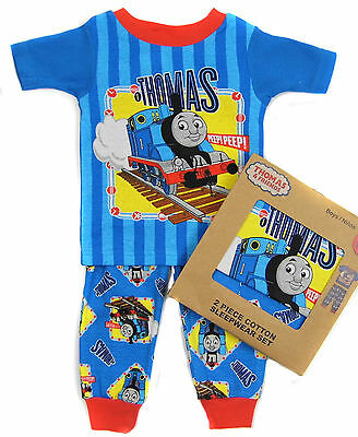 Boys Pyjamas Sleepwear Thomas and Friends Tshirt Trousers Gift Boxed 12M to 5Y