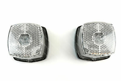 Brenderup One Pair of HELLA White Front Marker & Reflector  Light/lamp Trailer