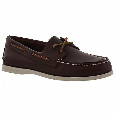 Sperry Top Sider A/O 2 Eye Mens Brown Leather Deck Boat Shoes Size UK 8-11