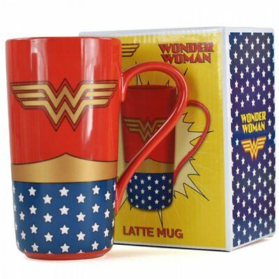 DC Wonder Woman Large Latte Ceramic Mug in a Gift Box