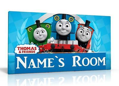 Personalised Door Sign / Name Plaque - Thomas The Tank Engine Free P&p