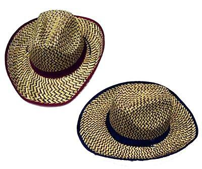 f1f2c397672 12 COLORED ZIG ZAG STRAW COWBOY HAT  111 wholesale bulk lot unisex western  hats